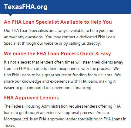 Texas FHA Loans